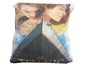 Titanic Leonardo Dicaprio recycled t-shirt pillow throw cotton tshirt throw pillow cushion