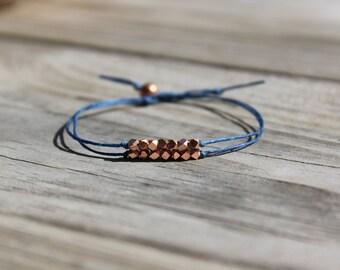 """Rose Gold """"Perfection"""" Karen Hill Tribe Beaded Bracelet"""