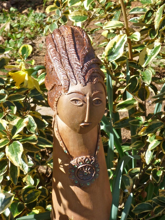 Garden Sculpture made from Stoneware Clay.