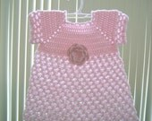 Crochet Baby Dress. Beautiful handmade.