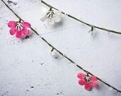 "Crochet necklace - turkish lace - needle lace - oya necklace - 144.09"" - FAST worldwide shipment with UPS - mekiye-016"