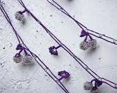 "Crochet necklace - turkish lace - needle lace - oya necklace - 156.69"" - FAST worldwide shipment with UPS - saime-020"