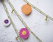 """152.36"""" Crochet necklace - turkish lace - needle lace - oya necklace - FAST worldwide shipment with UPS - bahar-008"""
