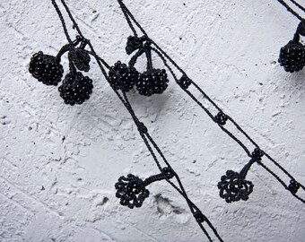 "Crochet necklace - turkish lace - needle lace - oya necklace - 170.47"" - FAST worldwide shipment with UPS - saime-007"