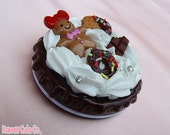 handmade custom whipped cream, icing, sweets, decoden cookie compact mirror