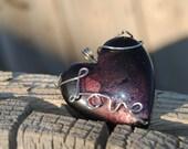 Purple heart pendant