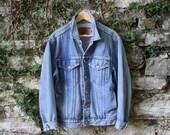 Vintage 80s Jean Jacket Mens Medium