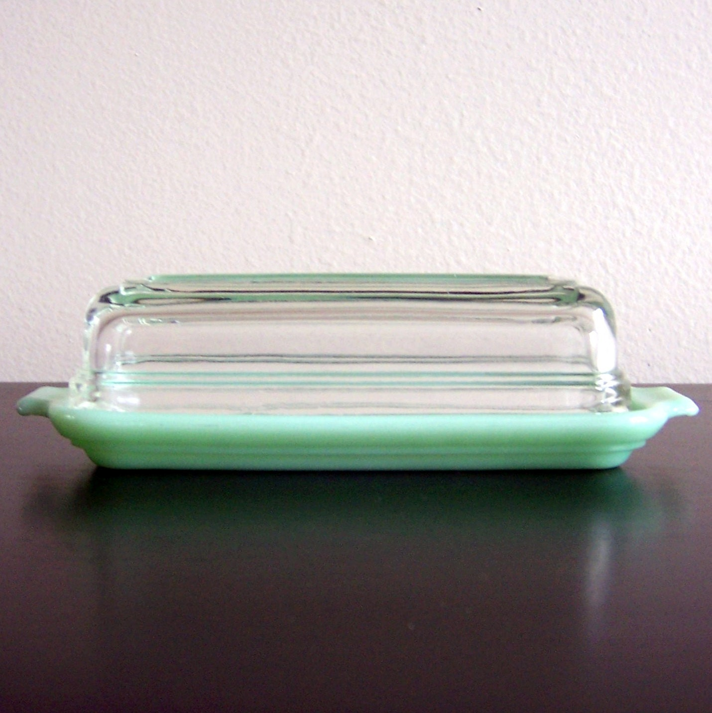 Vintage Fire King Jadeite Covered Butter Dish
