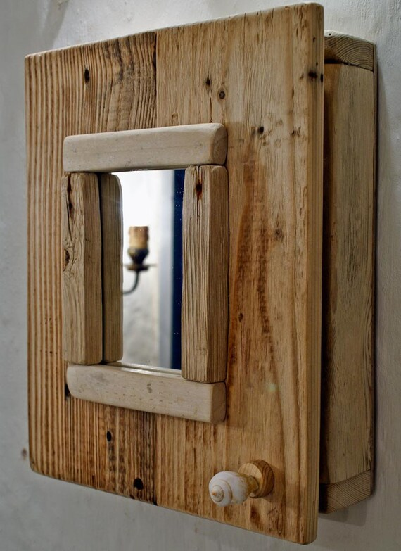 Driftwood Cabinet With A Mirror Bathroom Cabinet Driftwood