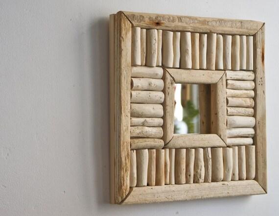 Driftwood Mirror, Rustic Mirror, Handmade Mirror, Upcycled Mirror, Cottage Style Mirror, Accent Mirror
