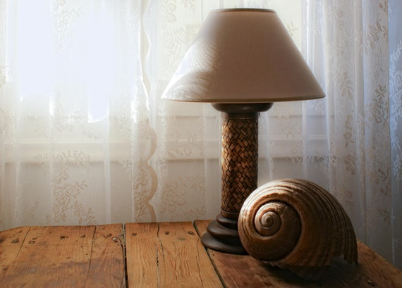 A Pair of Upcycled Wooden Lamps, Handmade Lamps, Beach House Decoration Lamps, Bed Side Lamps