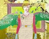 """vintage angel print - 11 X 14"""""""