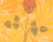 Summer Collection:  Silk Scarf hand painted with Ebru technique ( marbling)  design id120612