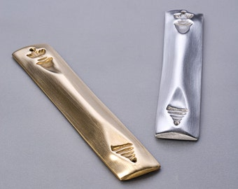Signed Large Mezuzah (Brass) Free S&H in the USA