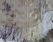 Scarf PARIS gold ivory weaving fabric from PARIS