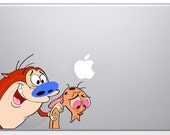 Ren Stimpy MacBook Decal Mac Apple Sticker Pro  13 15 17