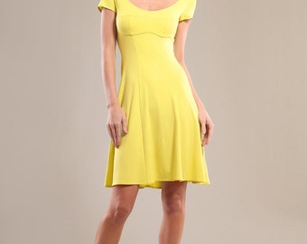 Viscose blend jersey dress with bra cups