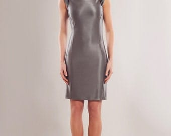 Heavy stretch viscose blend body-conscious dress