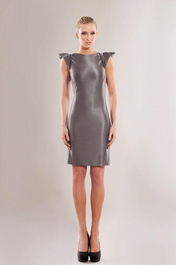 Heavy stretch viscose blend body-conscious dress
