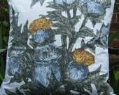 Thistles Mid Century screen print cushion