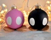 Two Bomb-omb Christmas Ornaments, Super Mario Brothers (Made to Order)