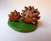 Hedgehog Family - Handmade FIMO