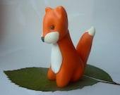 Fox - Handmade FIMO polymer clay figure/cake topper