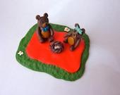 Teddy Bear Picnic - Handmade FIMO