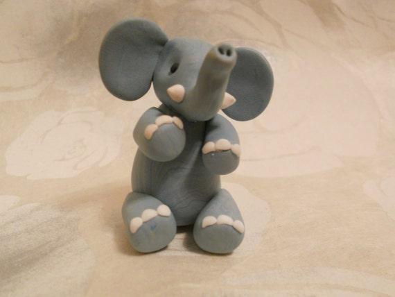 Elephant - Handmade FIMO