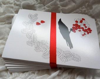 Raven cards - 10 cards blank inside