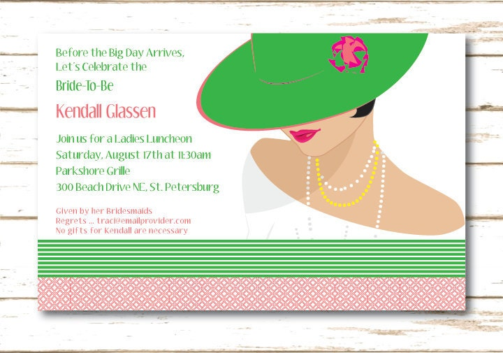 Bridal Lunch Invitations for luxury invitations template