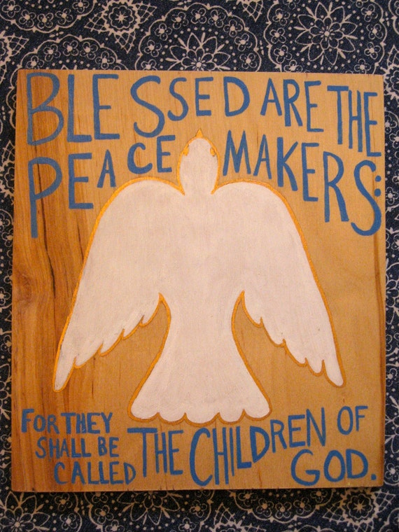 The Beatitudes Home Decor Wall Hanging Hand-Painted Sign