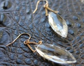 White Quartz Dangle Earrings Simple Modern Gemstone Drop Jewelry Fine Wire Wrapped Statement Jewerly