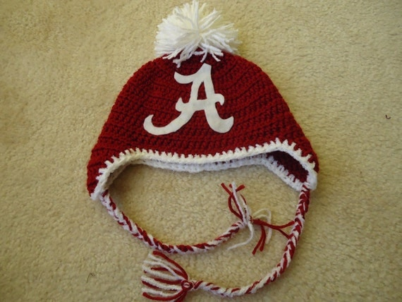 University of Alabama Crocheted Hat, Size 6-12 months