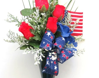 CLEARANCE - Memorial Day Cone - Red, White and Blue Cone - Patriotic Cone - 4th of July Cone - Veteran's Day Cone