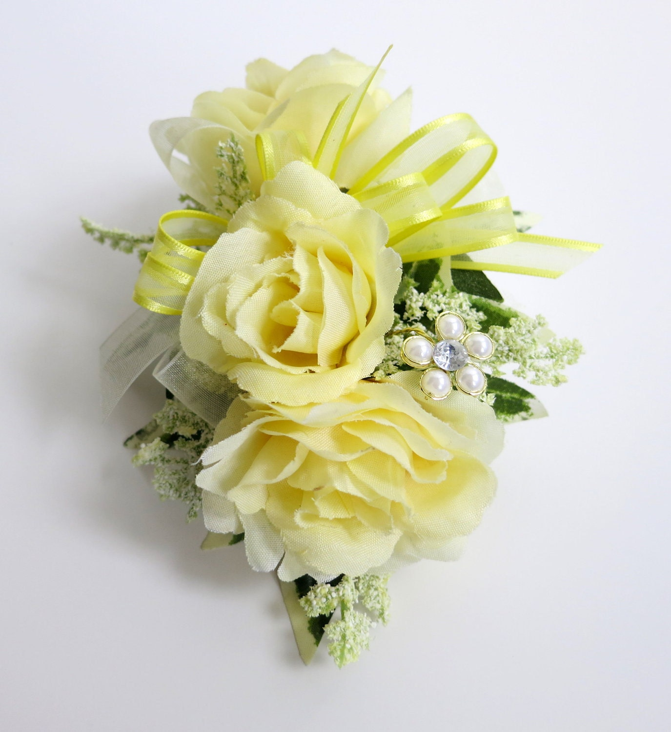 Wedding Corsage: RESERVED For Brandi Faux Corsage Wedding Corsage