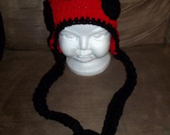 Lady Bug Beanie Hat