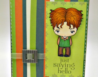 Saying Hello Handmade Greeting Card