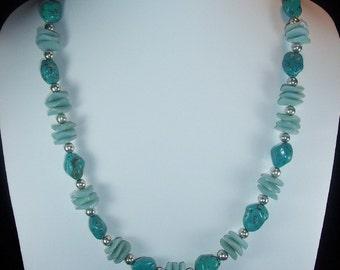 Turquoise and Amazonite Sea Breeze Necklace