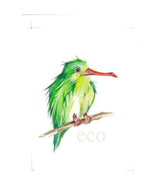 50 % OFF   ORiGINAL Hummingbird watercolor  painting 5x7 inch