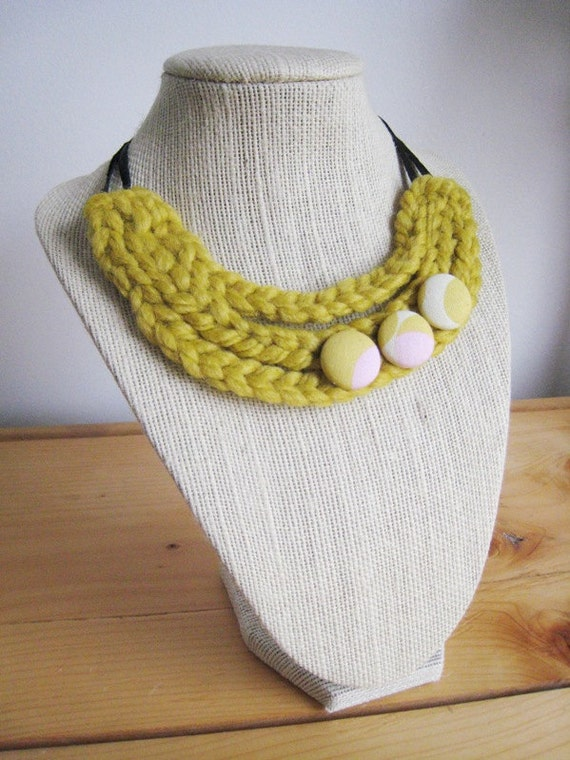 3-Strand Necklace - Yellow & Pink