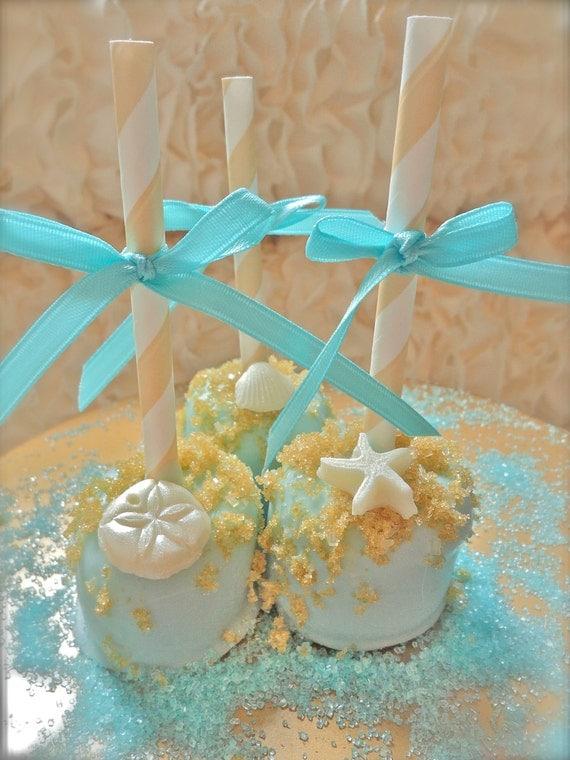 edible wedding favors beach seashells chocolate dipped