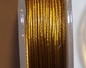 2 Spools Deep Gold Tone Beading Wire