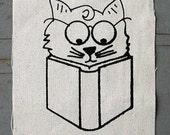 Inquisitive Cat screenprint patch