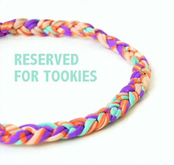 RESERVED FOR TOOKIES  headbands of braided elastan lycra cotton yarn