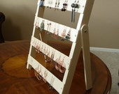 Earring display portable or wall hanging painted wood