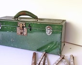 Vintage Tool Box -- Industrial Metal Box -- Fathers Day Gifts