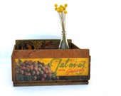 Vintage Rustic Wooden Fruit Crate -- Rustic Home Decor