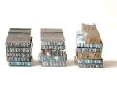 Vintage Miniature Letterpress, Printers Blocks, 4 Pcs., Industrial, Tiny, Long, Printers Letters, Jewelry Projects, Altered Art, Steampunk