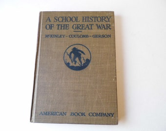 Vintage School Book, The Great War, Illustrated Maps, Man, Mens